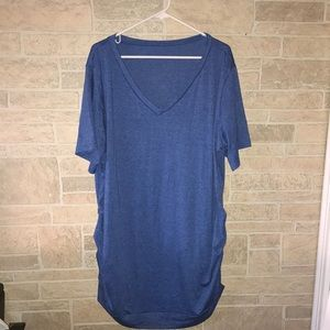 V Neck Tunic with decorative side buttons